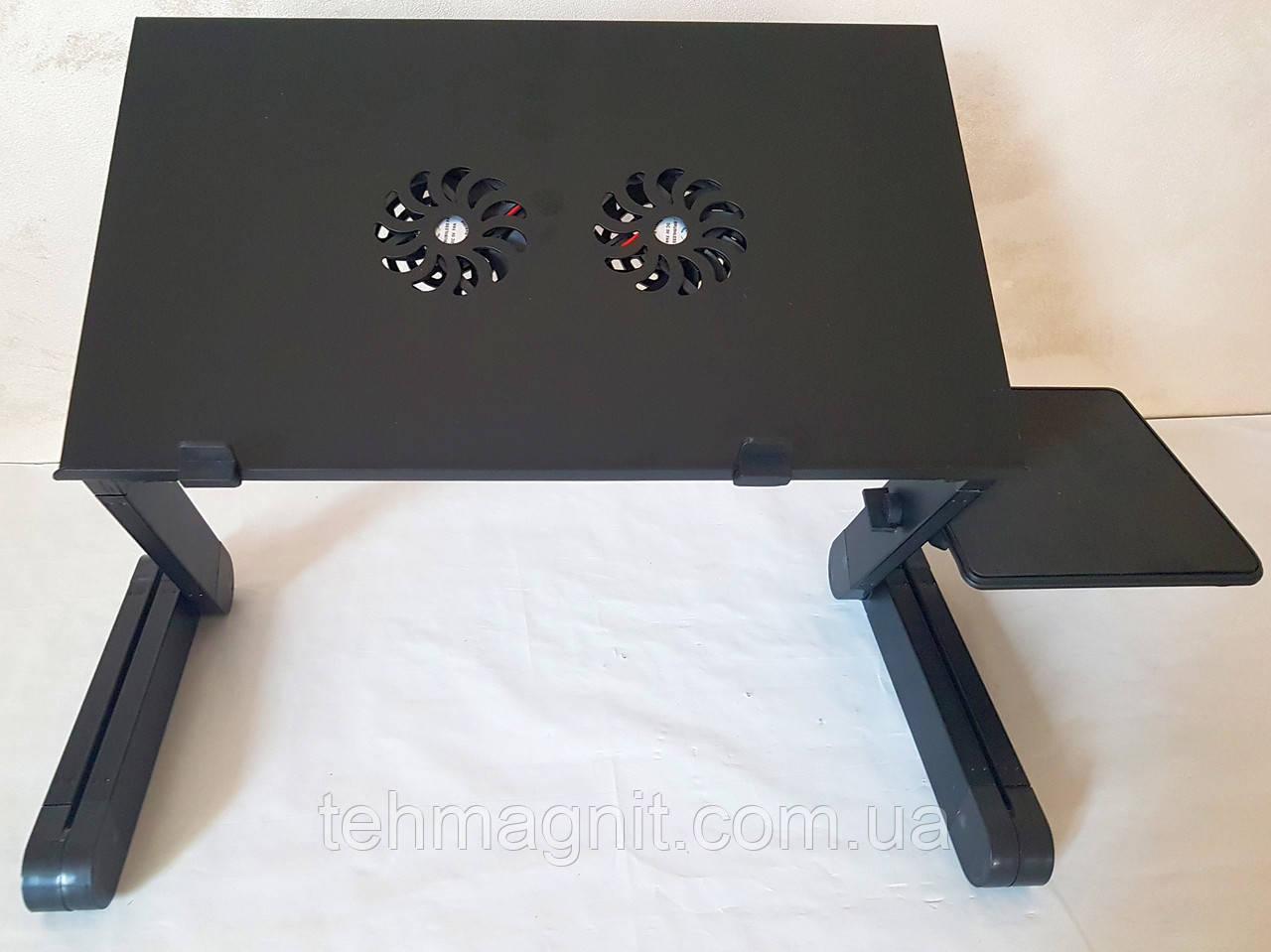 Столик трансформер для ноутбука T8 з підставкою для мишки