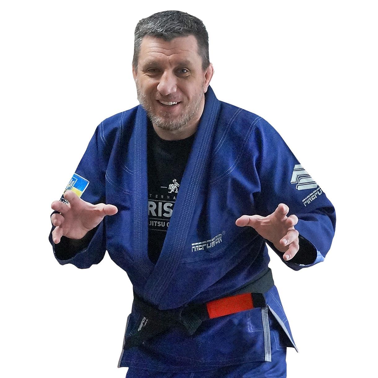 Кимоно для Бразильского Джиу-Джитсу Firepower Ukraine Темно-синее