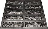 "Форма для штучного каменю Pixus 3D ""Мармурова цегла"" 40 x 40 x 1 см, фото 2"