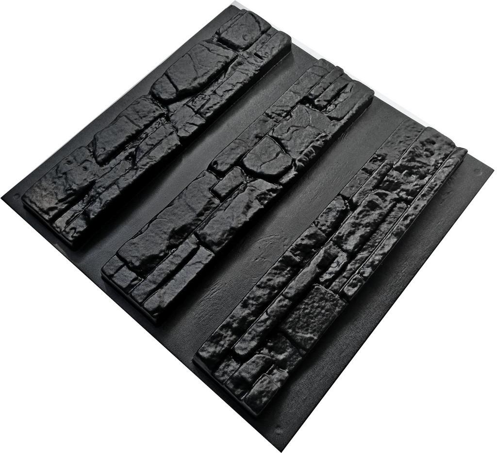 """Форма для искусственного камня Pixus 3D """"Аляска"""" 48 x 10 x 3 см (3шт)"""