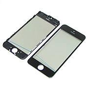 Стекло тачскрина для APPLE iPhone 5C чёрное с рамкой, OCA и поляризационной плёнкой high copy