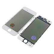 Стекло тачскрина для APPLE iPhone 5S белое с рамкой, OCA и поляризационной плёнкой high copy