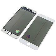 Стекло тачскрина для APPLE iPhone 6 Plus белое с рамкой, OCA и поляризационной плёнкой high copy