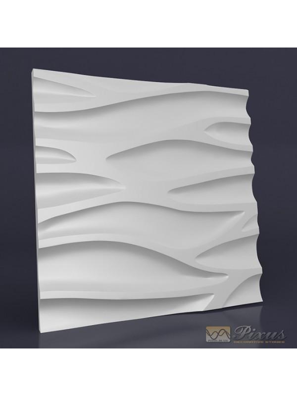 """Пластиковая форма для изготовления 3d панелей """"Каскад"""" 50*50"""