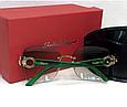 Женские солнцезащитные безоправные очки Salvatore Ferragamo (1802) green, фото 2