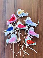 Топпер пташка, для торта, декоративний, флористичний, текстильний в асортиментідля оформлення свята