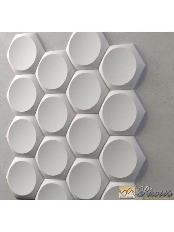 """Пластиковая форма для изготовления 3d панелей """"Шестигранники"""" 17*17"""