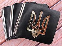Зажим для денег с карманом с Трезубец из натуральной кожи, фото 1