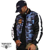Top Gun Camouflage Bomber Jacket, синий