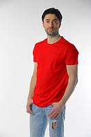 Мужская футболка плотная красный, М