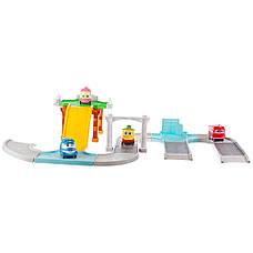 Игровой автотрек-гараж Robot Trains (Роботы Кей, Альф, Утенок и Селли), фото 2