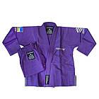 Детское кимоно для бразильского Джиу-Джитсу Firepower Ukraine Фиолетовое, фото 6