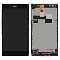Дисплей (LCD) Sony C6802 Xperia Z Ultra | XL39h | C6806 | C6833 с тачскрином и рамкой, черный