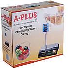 Ваги електронні торгові A-PLUS зі стійкою до 50 кг, фото 5