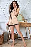 1348/7 Женская шелковая пижама разные цвета, фото 2