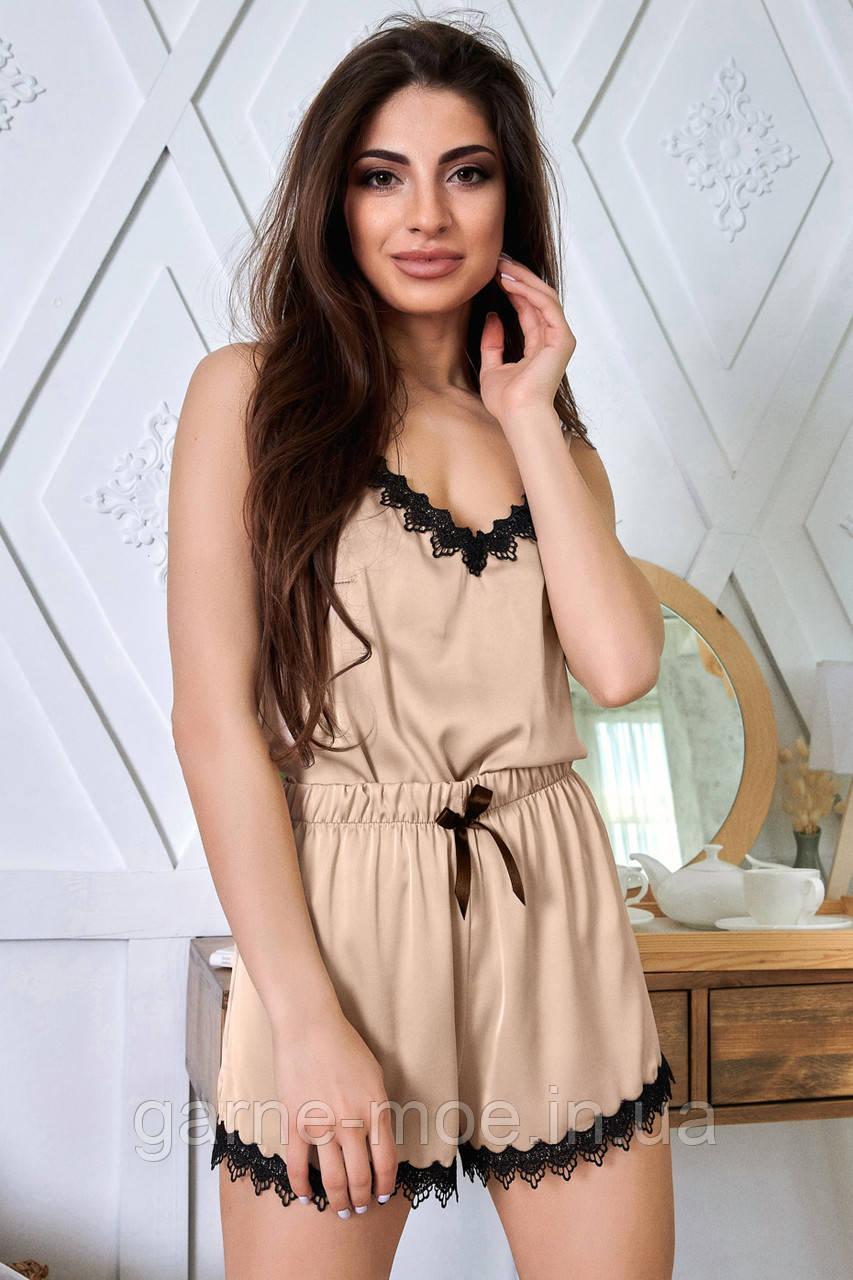 1348/7 Женская шелковая пижама разные цвета