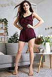 1348/7 Женская шелковая пижама разные цвета, фото 3