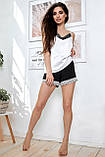 1348/7 Женская шелковая пижама разные цвета, фото 8