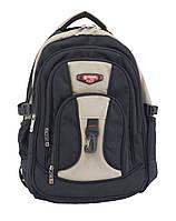 Рюкзак 804 Power London черный с бежевым