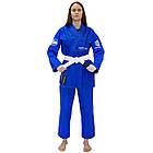Женское кимоно для бразильского Джиу-Джитсу Firepower Ukraine Синее, фото 4