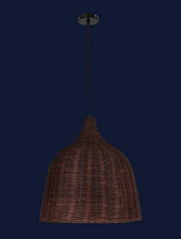 Подвесной светильник из ротанга в эко-стиле LV 971RATTAN-1(470) CF, фото 2