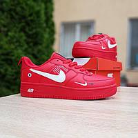 Кроссовки мужские в стиле  Nike Air Force 1 LV8  красные, фото 1