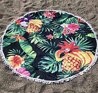 Пляжное покрывало (коврик) с ярким принтом Tropical fruits