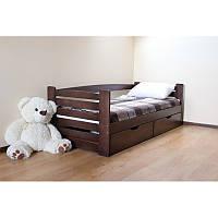Ліжко односпальне  з натурального дерева Карлсон