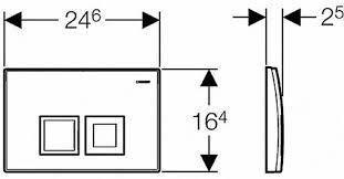 Кнопка змиву 115.135.46.1 GEBERIT Delta 50 двійний змив хром мат, фото 2