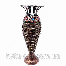 """Ваза плетеная """"Амфора"""", декор цветочек, цвет микс 49 см"""