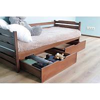 Ліжко односпальне  з натурального дерева Котигорошко