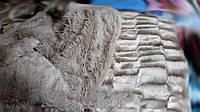Меховое Покрывало плед травка Норка 200 х 230 Серый, фото 1