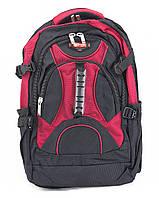 Рюкзак городской 8706 черный с красным Power London