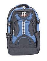Рюкзак городской 8706 черный с синим Power London