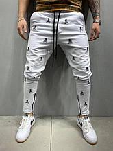 Чоловічі спортивні штани з черепами (білі) - Туреччина 5195