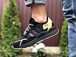 Мужские кроссовки Adidas Nite Jogger (черно-оранжевые) 9369, фото 2