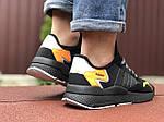 Мужские кроссовки Adidas Nite Jogger (черно-оранжевые) 9369, фото 4
