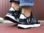 Мужские кроссовки Adidas Nite Jogger (черно-белые) 9371, фото 3