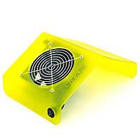 Вытяжка для маникюра настольная JN-276 мощностью 30 Вт на 1 винт + мешки, Желтая