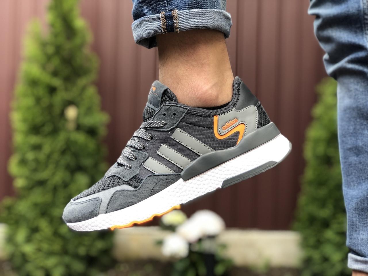 Мужские кроссовки Adidas Nite Jogger (серые) 9373