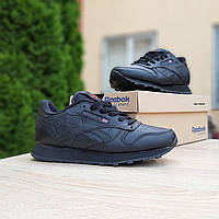 Женские кроссовки в стиле Reebok Classic черные, фото 1