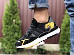 Чоловічі кросівки Adidas Nite Jogger (чорно-білі) 9374, фото 3