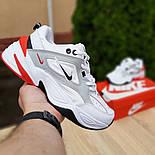 Женские кроссовки Nike M2k tekno белые с красным 37-41р. Живое фото. Реплика, фото 2