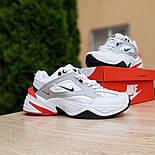 Женские кроссовки Nike M2k tekno белые с красным 37-41р. Живое фото. Реплика, фото 5