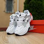 Женские кроссовки Nike M2k tekno белые с красным 37-41р. Живое фото. Реплика, фото 7