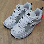 Женские кроссовки Nike M2k tekno белые с красным 37-41р. Живое фото. Реплика, фото 8