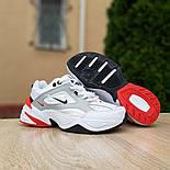 Женские кроссовки Nike M2k tekno белые с красным 37-41р. Живое фото. Реплика, фото 9