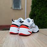 Женские кроссовки Nike M2k tekno белые с красным 37-41р. Живое фото. Реплика, фото 4