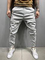 Мужские легкие брюки на лето (светло-серые) - Турция P1079