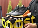 Мужские кроссовки Adidas Alphaboost (черно-оранжевые) 9376, фото 3